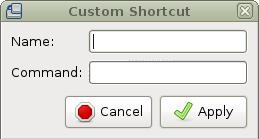 Add shortcut dialog